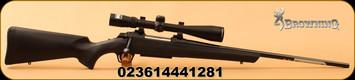 "Browning - 270Win - AB3 Stalker Combo - Bolt Action Rifle - Black Composite/Blued, 22""Barrel, 5 Rounds, c/w Nikon Buckmaster II 4-12x40 Scope BDC"