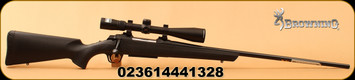 "Browning - 7mmRemMag - AB3 Stalker Combo - Bolt Action Rifle - Black Composite/Blued, 26""Barrel, 3 Rounds, c/w Nikon Buckmaster II 4-12x40 Scope BDC"