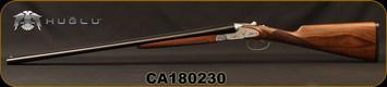 "Used - Huglu - 28Ga/2.75""/26"" - 201A - SxS - Turkish Walnut English Straight Stock/Silver Receiver w/Gold inlay birds/Blued barrels, 5pc. Mobile Choke System, SKU# 8681744307383, S/N CA180230 - In original case"