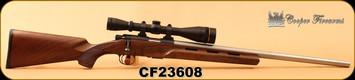 "Consign - Cooper - 22LR - Model 57M Montana Varminter - AA+ Claro Walnut/Matte Stainless, 24""Barrel, Pachmayr recoil pad, c/w Leupold VX-II 6-18x40mm, LRV Duplex Reticle - Never Fired - In box"