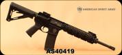 "Consign - American Spirit Arms - 5.56/223 - Model ASA15 - AR-15 Semi-Auto - 16"" Nitrided 1:9 Twist Mid-length Heavy Barrel, c/w Daniel Defense MK18 RIS II, 2 Magazines - Restricted"