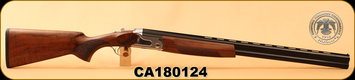 "Huglu - 12Ga/3""/28"" - S12E - Full-Size - O/U - Turkish Walnut/Silver Receiver/Blued, 5pc. Mobile Choke System, S/N CA180124"