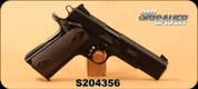 """Used - Sig Sauer - 22LR HV - 1911-22 - Wood, stippled double diamond pattern/PTFE finish, 5""""Barrel, c/w IMI Defense holster & Double Magazine Pouch, 2 magazines, extra grips - In original hard case"""