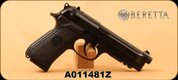 "Used - Beretta - 9mm - Model 92A1 - Black Grips/Brunton finish, 4.9""Barrel, Beretta 'D' Spring, Wilson Combat Fluted Guide Rod - In black hard case"