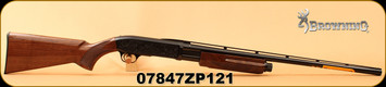 "Browning - 20Ga/3""/26"" - BPS Medallion - High gloss Grade II/III Black Walnut/Polished Blued, Invector-Plus Flush Chokes, Vent Rib, Mfg# 012275605, S/N 07847ZP121"