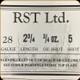 """RST - 28 Ga 2.75"""" - Lite - Vel 1100 - 3/4oz - 5 Shot- 25ct"""