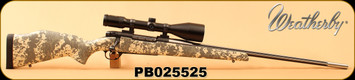 """Used - Weatherby - 257Wby - Mark V - Digital Camo/Stainless, 26""""Fluted Barrel, c/w Zeiss Diavari V 3-12x56 T*, #6 Reticle"""
