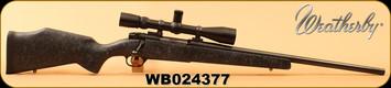"Used - Weatherby - 22-250 - Mark V - Black w/grey web/Blued, 22""Heavy Barrel, c/w Leupold Mark IV 3.5-10x40mm, Mil-Dot Reticle"