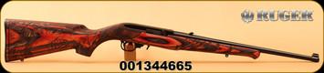 "Ruger - 22LR - 10/22 Wild Hog - Semi-Auto - Engraved Wild Hog stock - Red Laminate/Blued, 18.5""Barrel, Mfg# 31107, S/N 001344665"