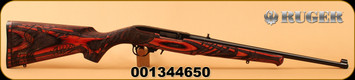 "Ruger - 22LR - 10/22 Wild Hog - Semi-Auto - Engraved Wild Hog stock - Red Laminate/Blued, 18.5""Barrel, Mfg# 31107, S/N 001344650"