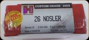 Hornady - Full Length Dies - 26 Nosler - 546279