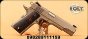"""Colt - 10mm - 1911 FS Delta Elite - Single Action - Semi Automatic Pistol - Brushed Stainless, 5"""" Barrel, 8rds, Mfg# 02020XE"""
