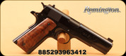 "Remington - 45ACP - 1911 R1 Centennial Limted Edition Pistol - Walnut Grip/High Polish Charcoal Blued Finish, 5""Barrel, 7 Rd, Gold Bead Front sight, Mfg# 96341, Comes with a Custom-Made, French-fit, walnut presentation case, 2 magazines"