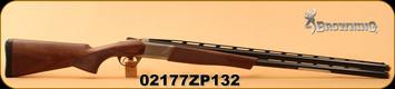 "Browning - 12Ga/3""/30"" - Cynergy CX - Over/Under Shotgun - Walnut Stock/Silver Receiver/Blued, Mfg# 018709303, S/N 02177ZP132"