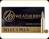 Weatherby - 257 Wby Mag - 100 Gr - Select Plus - Tipped Triple Shock-X Lead Free - 20ct - B257100TTSX