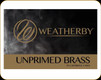 Weatherby - 257 Wby Mag - Unprimed Brass - 50ct - BRASS257CT50