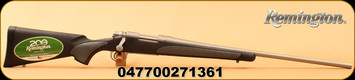 """Remington - 308Win - Model 700 SPS Stainless - Bolt Action Rifle - Black Synthetic/Stainless, 24"""" Barrel, 4 Rounds, Model# 27136"""
