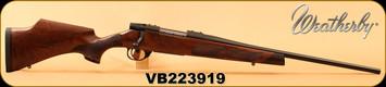 "Weatherby - 7mm-08 - Vanguard Camilla - Satin finish, Turkish A-grade walnut w/Rosewood forend & grip caps, Fleur De Lis Checkering/Matte Blued, 20""Barrel, 5 rds, Adjustable Match Quality, Mfg#VWR7M8RR0O, S/N VB223919 -marks on right side of stock"