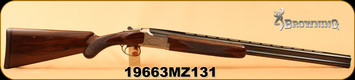 """Consign - Browning - 20Ga/3""""/27"""" - 28""""/2.75""""/27"""" - Citori Lightning Feather Combo - Gloss Black Walnut/Polished Blued, Lightweight Alloy Reciever - In original Fitted Leather Hard Case"""