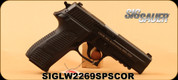 """Sig Sauer -9mm -  P226R 10th Anniversary CSOR (Canadian Special Operations Regiment) - Limited Edition - Semi-Auto Pistol - Black/G10 Grips, 4.4""""Barrel, c/w Explorer hard molded polymer case, 3 mags"""