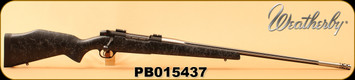 "Consign - Weatherby - 338-378WbyMag - Mark V Accumark - Black Composite w/grey web/Stainless, 26""Fluted Barrel, Hinged Floorplate, 2""Muzzle Brake - Only 4 rounds fired - 5 boxes of ammo also available from Consignee"