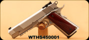 "Consign - Shooters Arms - 45ACP - Thunderbolt SS - 1911 Single Stack - Semi-Auto - Genuine wood Grips/Stainless, 4.25""Barrel"