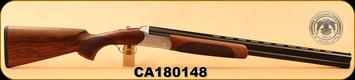"Huglu - 12Ga/3""/26"" - 103C - O/U - Turkish Walnut/Silver Reciever w/gold inlay birds/Blued Barrel, single trigger, 5pc. Mobile Choke, SKU# 8681715390222, S/N CA180148"