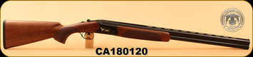 "Huglu - 12Ga/3""/28"" - 103C - O/U - Turkish Walnut/Black Reciever w/gold inlay birds/Blued Barrel, single trigger, 5pc. Mobile Choke, SKU# 8681715390239, S/N CA180120"