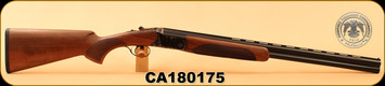 "Huglu - 20Ga/3""/26"" - 103D - O/U - Turkish Walnut/Case Hardened Receiver & Trigger Guard/Blued Barrel, single trigger, 5pc. Mobile Choke, SKU# 8681744309004, S/N CA180175"