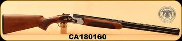 "Huglu - 20Ga/3""/28"" - 103F - O/U, Turkish Walnut/Black & Silver Reciever w/gold inlay birds/Blued Barrel, single trigger, 5pc. Mobile Choke, SKU# 8681744309035, S/N CA180160"