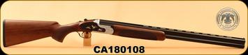 "Huglu - 12Ga/3""/28"" - 103F - O/U, Turkish Walnut/Black & Silver Reciever w/gold inlay birds/Blued Barrel, single trigger, 5pc. Mobile Choke, SKU# 8681715390413, S/N CA180108"