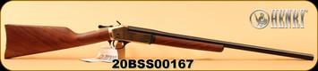 "Henry - 20Ga/3""/26"" - American Walnut Straight English Stock/Brass Receiver and buttplate/Black Matte Barrel finish, rebounding external hammer, Model # H015B-20, S/N 20BSS00167"