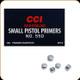 CCI - Small Pistol Magnum Primers - No. 550 - 100ct - 0018