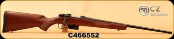 "CZ - 223Rem - 527 American - Turkish Walnut-American Style/Blued, 21.9""Barrel, Single set trigger, 1:9""Twist, S/N C466552"
