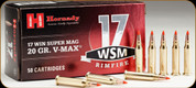 Hornady - 17 Win Super Mag - 20 Gr - V-Max - 50ct - 83180