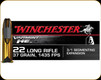 Winchester - 22 LR - 37 Gr - Varmint HE - Fragmenting HP - 50ct - S22LRFSP