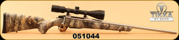 "Consign - Tikka - 270Win - T3 - Realtree Hardwoods Synthetic Stock/Stainless, 22.4""Barrel, detachable magazine, c/w Vortex Diamondback 3.5-10x50, Dead-Hold BDC Reticle"