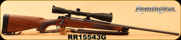 "Used - Remington - 270Win - Model 700 CDL Classic Deluxe - Walnut/Satin Blued, 24""Barrel, c/w Bushnell Legend Ultra HD 4.5-14x44, Mil-Dot Reticle, Butler Creek Flip caps & Synthetic Sling - Only 20 rounds"