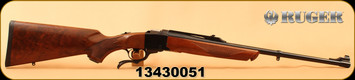 "Consign - Ruger - 303British - No.1A Light Sporter - Walnut/Blued, 22""Barrel, Alexander Henry Forearm, Open sights, Quarter rib scope base, c/w Ruger rings - In non-original box"
