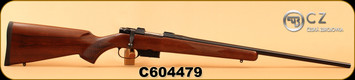 "CZ - 22Hornet - 527 American - Turkish Walnut, American-Style Stock/Blued, 21.9""Barrel, Single Set Trigger, 5rd magazine, Integrated 16mm Scope Bases, S/N C604479"