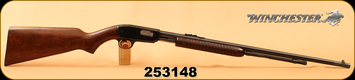 "Used - Winchester - 22S/L/LR - Model 61 - Pump Action - Walnut Stock/Blued, 24""Barrel, under-barrel tubular magazine, Fixed Front sight, Adjustable rear sight"