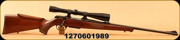 "Used - Krico - 222Rem - Walnut/Blued, 24""Barrel, c/w Redfield 10X riflescope, Duplex reticle"