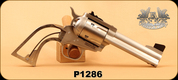 "Freedom Arms - 45Colt - Model 1997 - Rough wood Grips/Stainless Steel, 4.25""Barrel, Adjustable Sights, Fluted Cylinder"