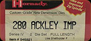 Hornady - Full Length Dies - 280 Ackley Imp - 546321