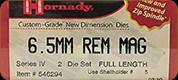 Hornady - Full Length Dies - 6.5mm Rem Mag - 546294