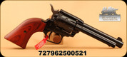 """Heritage - 22LR/22WMR - Rough Rider Revolver - Cocobolo Grips/Blued, 4.75"""" Barrel, 9 Round, Fixed Sights, Mfg# RR22999MB4"""