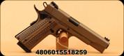 """Rock Island Armory - 10mm - Rock Ultra FS - 1911 Style Pistol Series - Semi-Auto Pistol - Brown G10 Grips/FDE Cerakote, 5""""Barrel"""