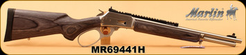 "Marlin 44RemMag/44S&W - Model 1894SBL - Big Loop Lever Action - Black/Gray Laminate Stock/Stainless, 16.5""Barrel, 8-Shot Tubular Magazine, Mfg# 70432, S/N MR69441H"