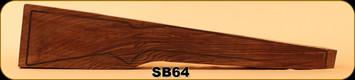 Stock Blank - Rifle Stock - Grade 3+ New Zealand Walnut - SB64
