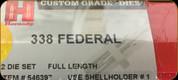 Hornady - Full Length Dies - 338 Federal - 546397